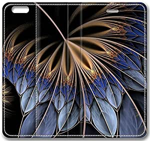 "Abstract Feather Fractal Leather Cover for iPhone 6 Plus(5.5"") hjbrhga1544"