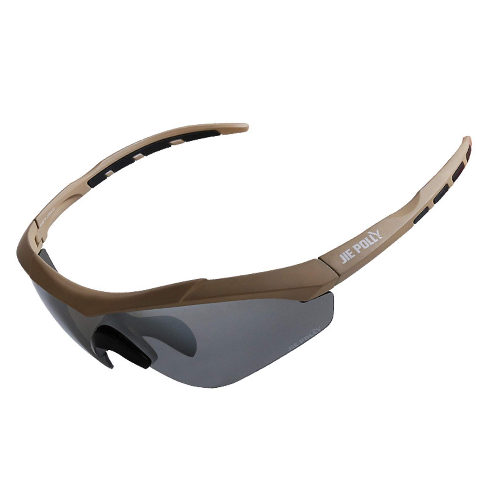 Adisaer Winter Cycling Glasses Tactical Goggles Windshield Anti-Shock Bulletproof Glasses Brown for Adults