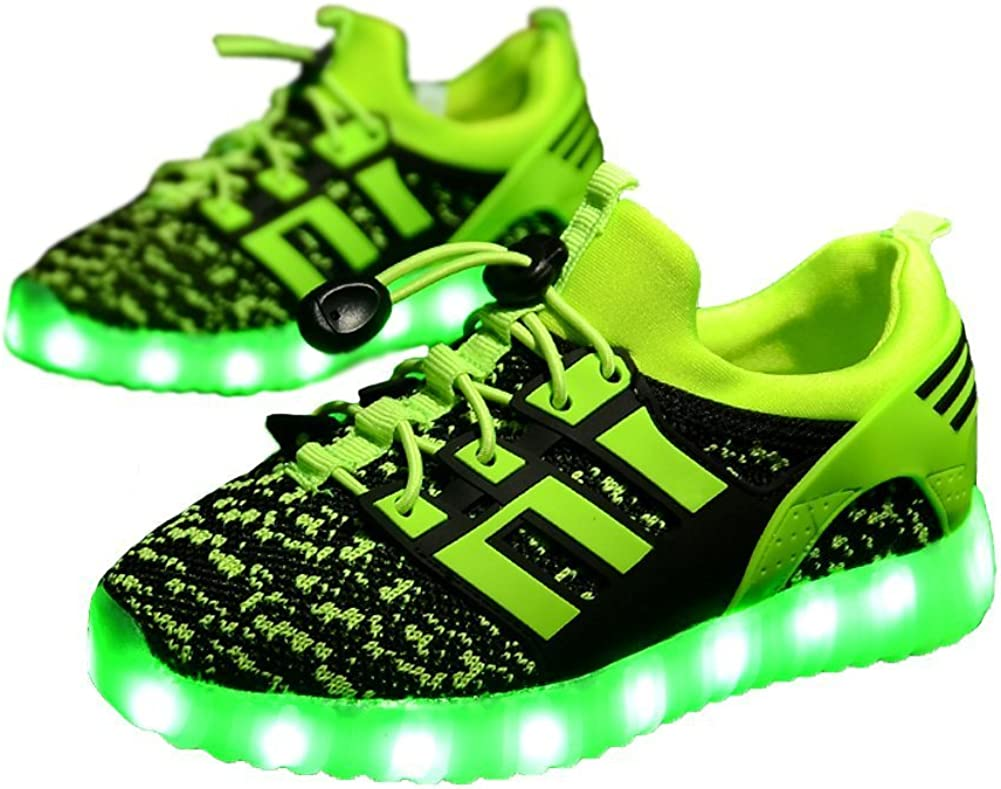 24XOmx55S99 Boys /& Girls Children USB Charging LED Light Up Shoes Unisex Kids Glowing and Flashing Sneakers