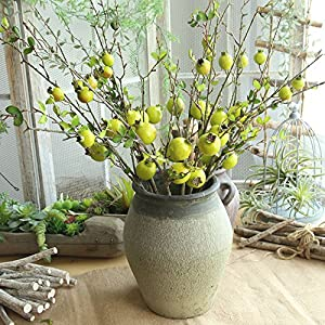 YLCOYO Flowers, Fake Artificial Rose Fruit Pomegranate Berries Bouquet Floral Garden Home Decor 106