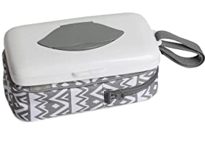 Baby Wipes Dispenser with Diaper Pouch 2 in 1 Portable Travel Clutch with Strap for Carrying Diapers and Wipes On The Go