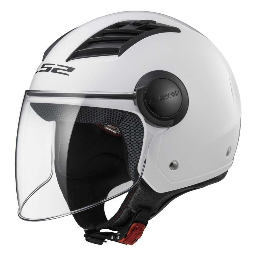 Gloss White Long LS2 Casco Moto Of562 Airflow Xxs