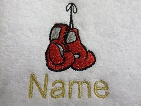 Toalla de baño guantes de boxeo con un Logo y nombre de tu elección, 70