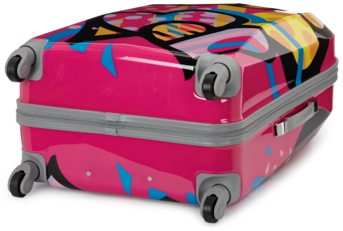 Rockland Luggage Vision Polycarbonate 3 Piece Luggage Set, Love, One Size by Rockland (Image #3)