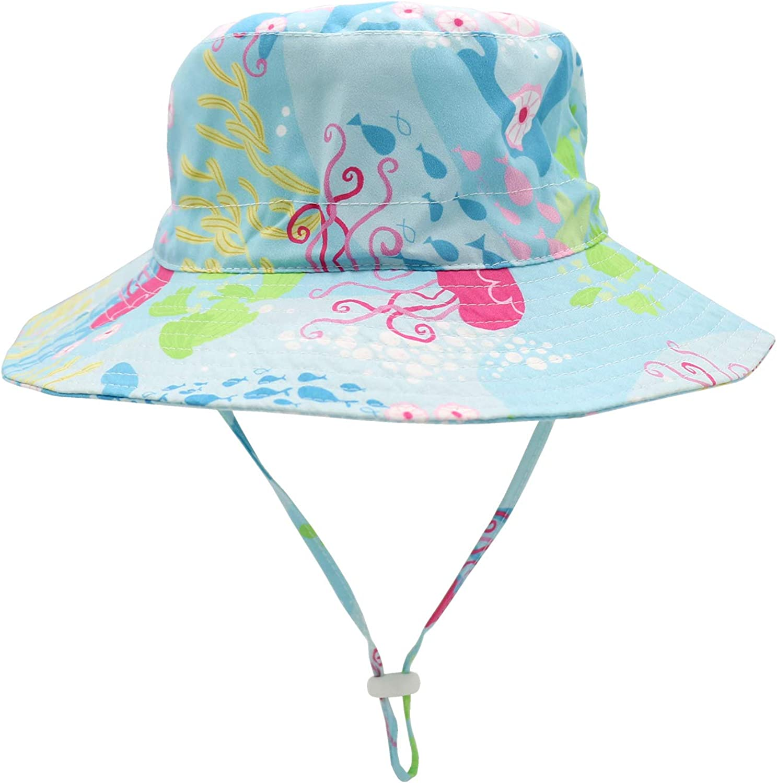 Sarfel Baby Sun Hat Toddler Summer Hats UPF 50 Baby Bucket Hat Kids Beach Hats for Baby Boys