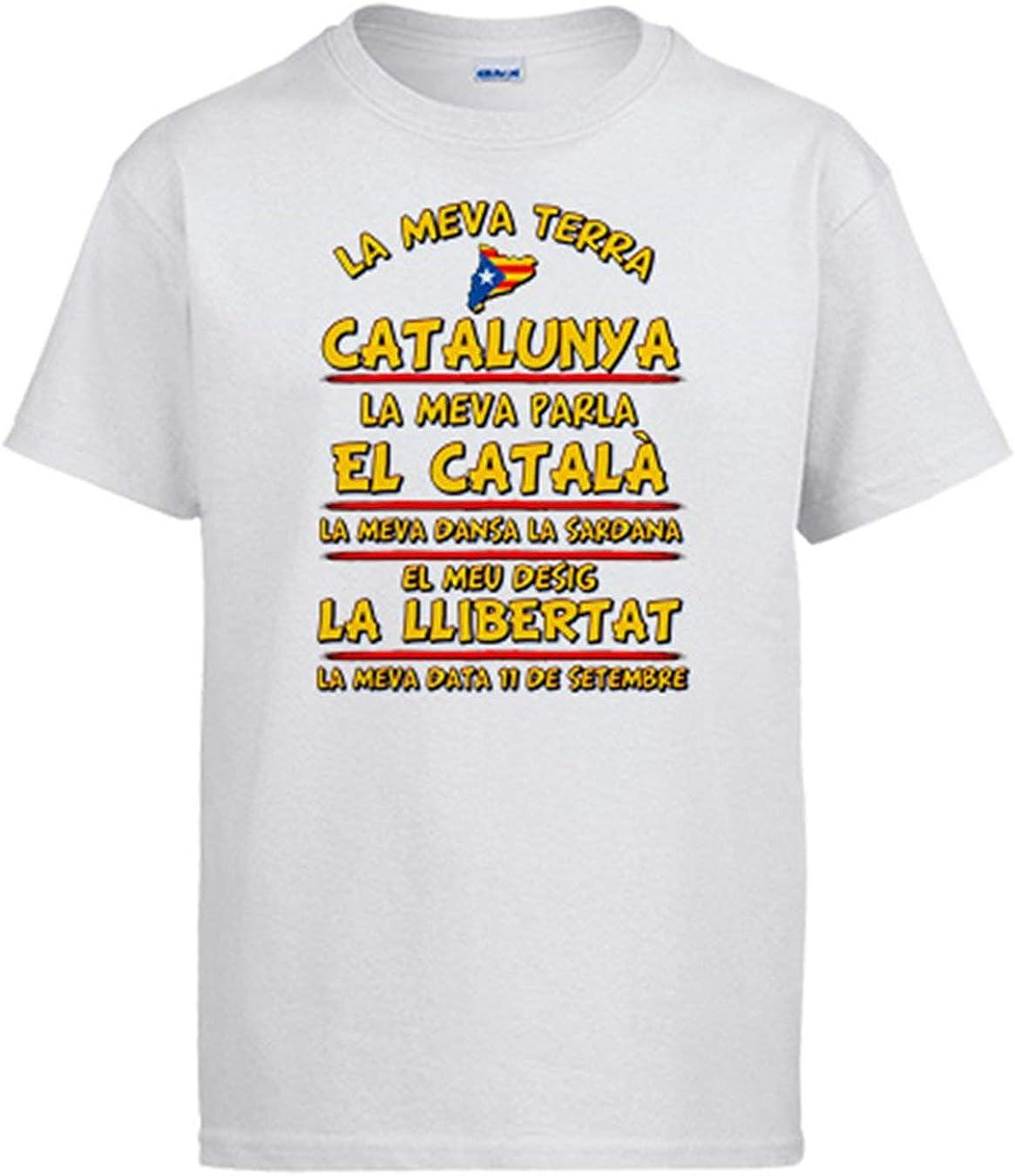 Diver Camisetas Camiseta La meva Terra Catalunya: Amazon.es: Ropa y accesorios