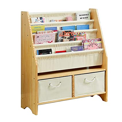 Solid Wood Childrens Bookshelf Baby Bookcase Book Rack Finishing Bedroom Toy Storage