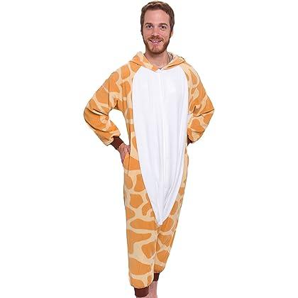 ... Silver Lilly Unisex Adult Pajamas - Plush One Piece Cosplay Giraffe Animal  Costume ... 78980ba78