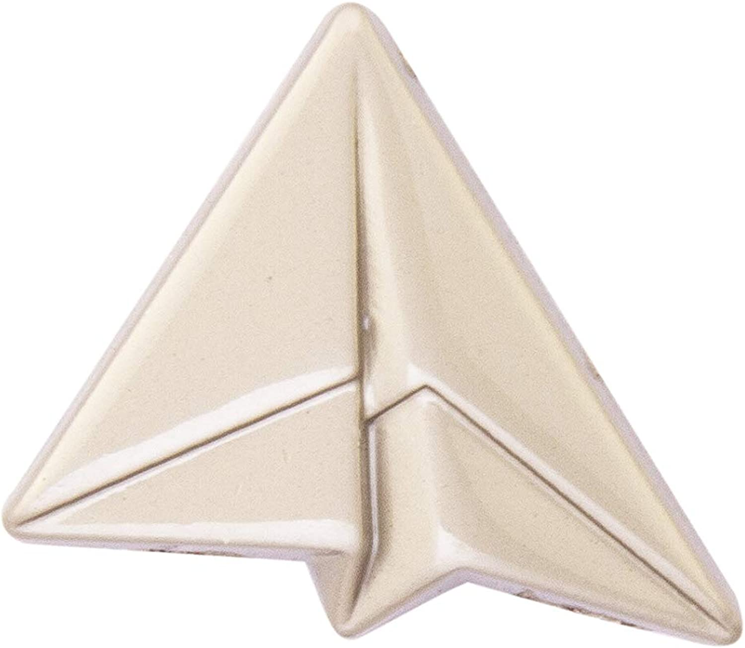 Knighthood Silver Paper Aeroplane Lapel Pin/Brooch for Men