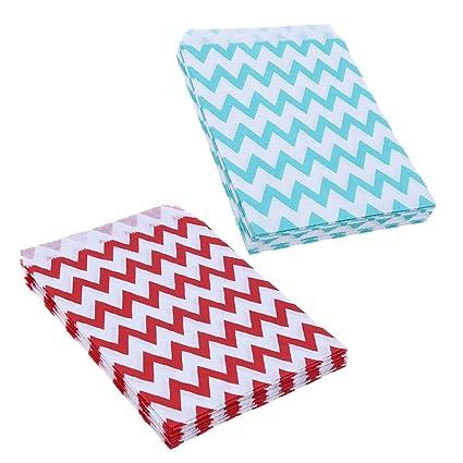 Amazon.com: Chevron Party – 25 bolsas de papel planas para ...