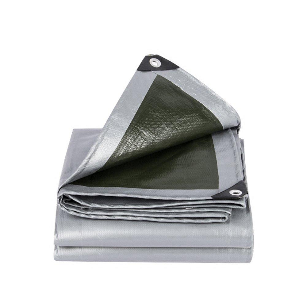LQQGXL Starke Plane, LKW-Schutz Regen Schatten Tuch Isolierung Plane Hochtemperatur-Anti-Aging, grau + grün Wasserdichte Plane