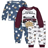 The Children's Place Baby and Toddler Boys Milk and Cookies Snug Fit Cotton Pajamas 2-Pack