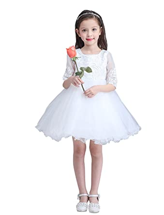 Amazon Snowskite Kids Girls White Wedding Flower Party Birthday