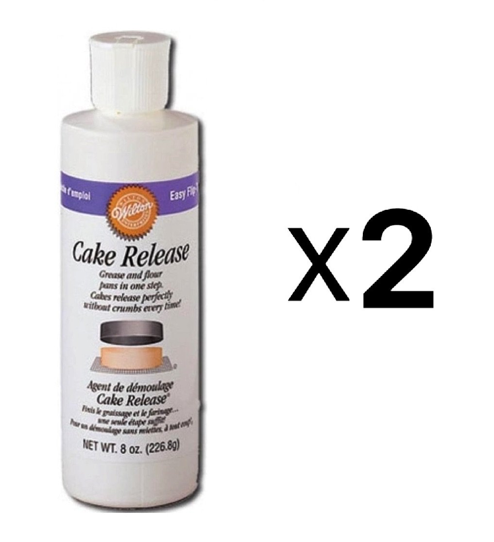 Wilton Cake Release - 2-Pack 1 8 ounce container Certified Kosher Convenient dispensing bottle