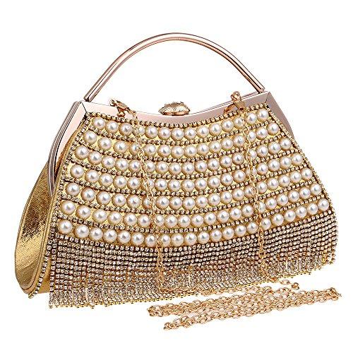 Diamante Ladies Clutch Elegant Bridal Bag Wedding Small Handbag Gold Purse Handbag Evening Crossbody Clutch Party Bridal vqIgwIdf