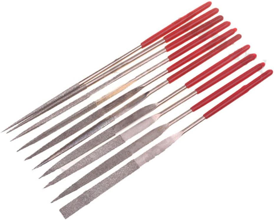 OPSLEA Diamant-Nadelfeilen-Set 5er Pack 140 x 3 mm Diamantfeile 5 Sticks