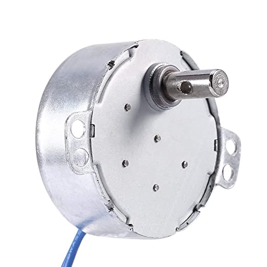 Synchronous Synchron Motor,Turntable motor withwith 7mm/0.275in Flexible Coupling Connector,110V motor, 50/60Hz AC 100~127V 4W 5-6RPM/MIN CCW/CW For ...