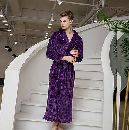 SHANGXIAN Largo Bata Baño Homewear Vestido Mujeres/Hombres Albornoz Franela Camisón Calentar Batas De Baño