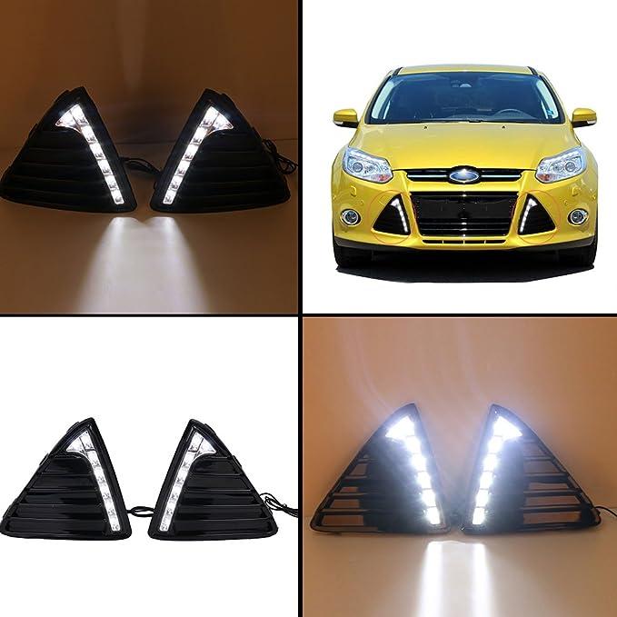 wanoos antiniebla Grill LED reemplazar luz de circulación diurna para coche: Amazon.es: Coche y moto