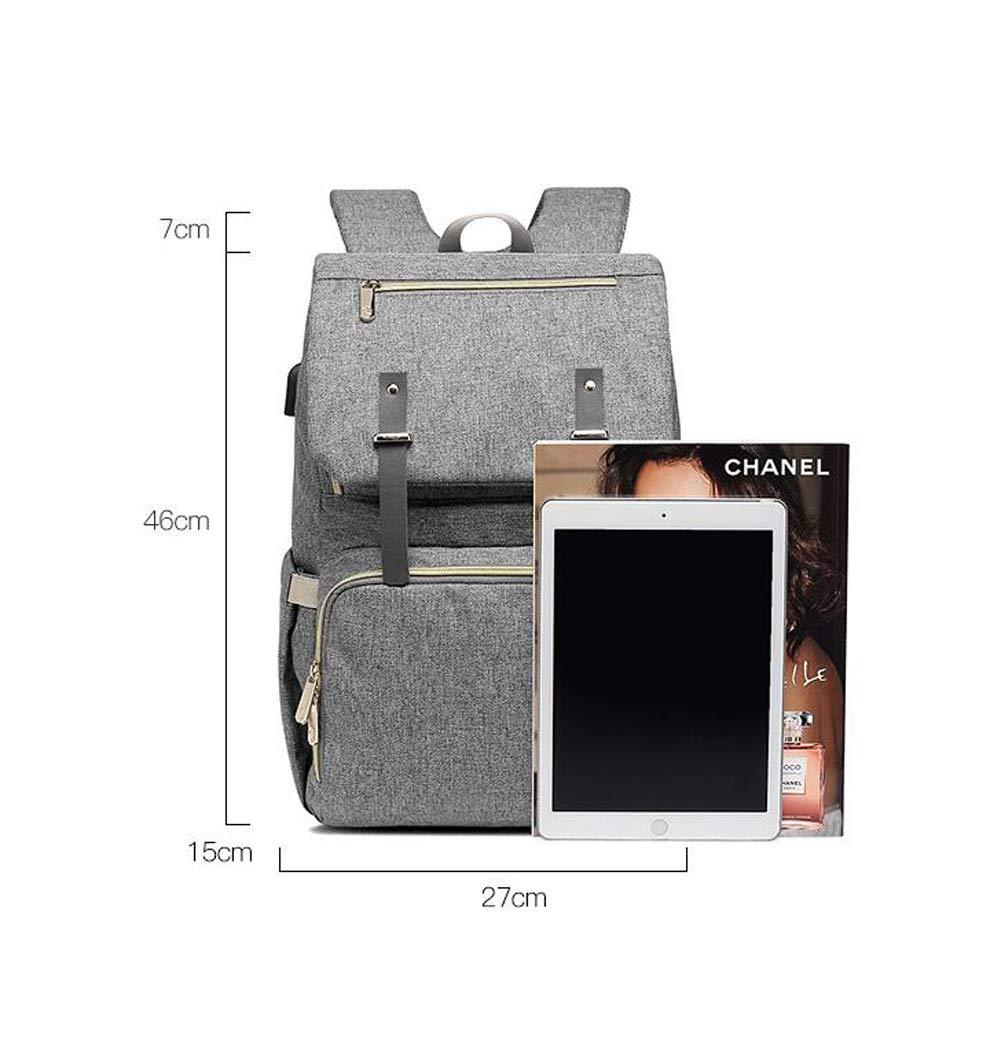 Homesave Bebé USB Carga Mochila Taza Set Impermeable Pañal Bolsa para Mamás,Blue: Amazon.es: Hogar
