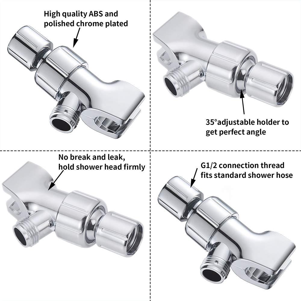 Galapara Shower Head Holder for Hand Held Showerheads Wall Mount Handheld Shower Head Holder Bracket Adjustable Shower Arm Mount Polished Chrome