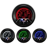 Water Temperature Gauge- Electrical Digital Green/white/red/blue Premium EVO Series 60mm (2 3/8