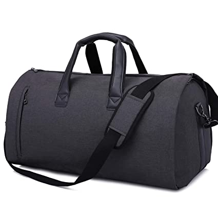 AORAEM Suit Travel Bag Carrier Luggage Cover Duffel Bag for Men Women  Overnight Weekend Flight Bag with Shoe Pouch Garment Flight Gym Bag - Black   ... b96a31b698574