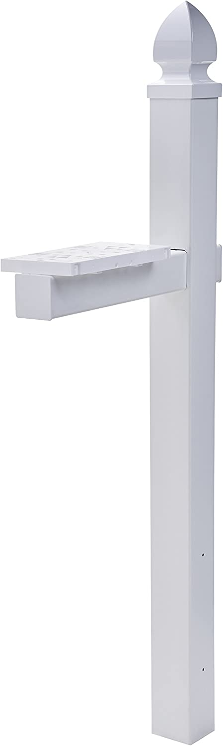 Gibraltar Whitley 4x4 Rust-Proof Plastic Cross-Arm White Mailbox Post WP000W01