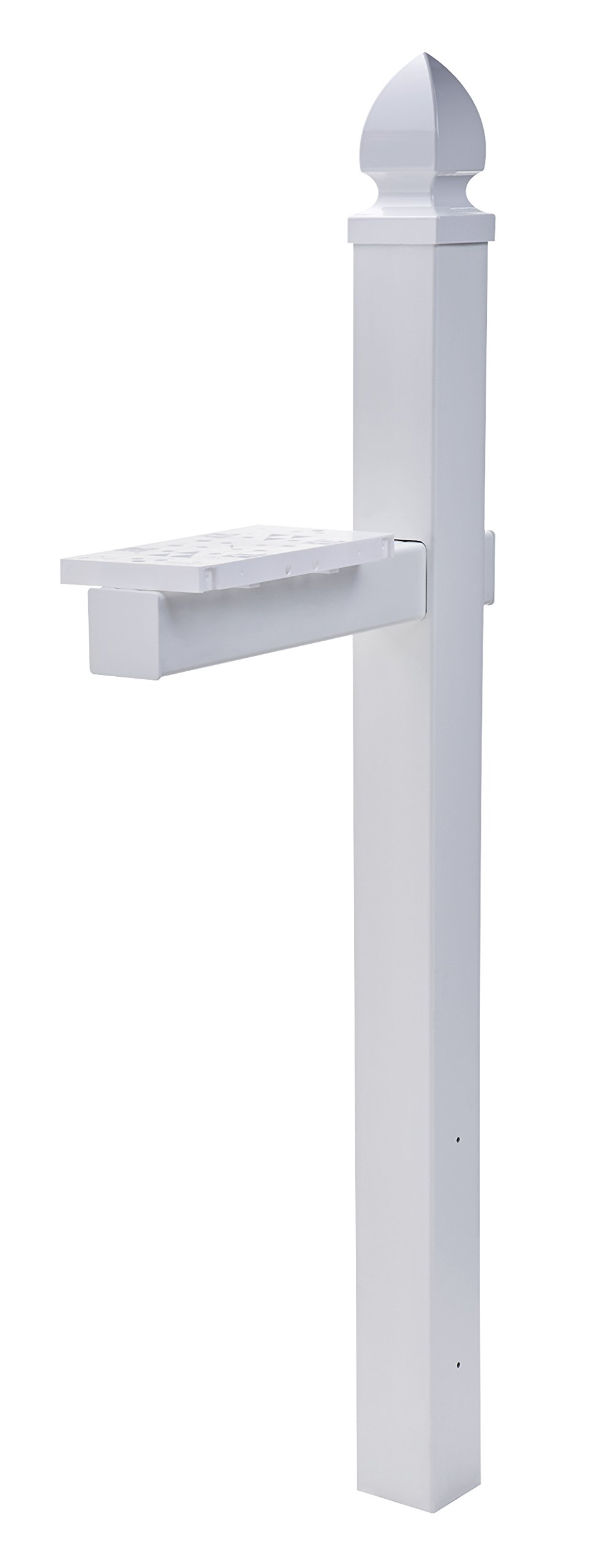 Gibraltar Mailboxes Whitley 4x4 Rust-Proof Plastic White,  Cross-Arm Mailbox Post, WP000W01