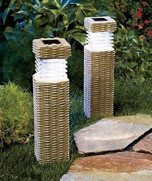 garden pillars. Solar Garden Pillars
