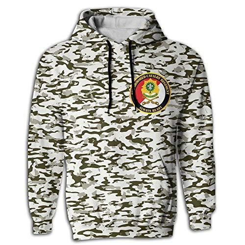 2nd Armored Cavalry Regiment White Always Ready Mens 3D Printed Galaxy Hoodies Casual Pullover Hoodie Hoodies Sweatshirt ()
