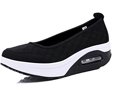 Women's Athletic shoes Casual Slip-On Toning Sneaker Walking Shoe