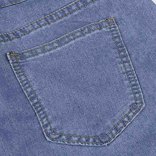Donna mambain A Denim Lunghi Strappato Matita Sottili Leggings Pantaloni Stretch 1516 Jeans rRTqr