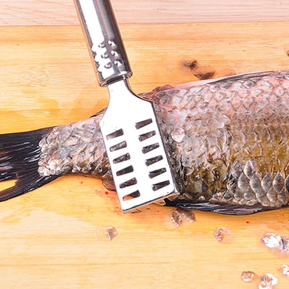 elegantstunning Multifunction Stainless Steel Fish Scaler for Kitchen Cooking Tool
