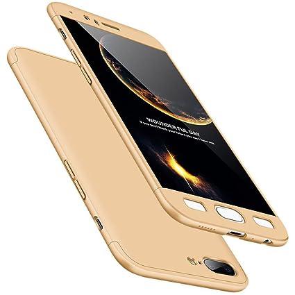 WindCase OnePlus 5 Funda, 360 Grados Cuerpo Completo Protección 3 en 1 Duro PC Funda Anti-rasguños Carcasa para OnePlus 5 Oro + Protector de Pantalla ...