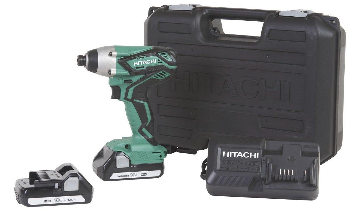 Hitachi WH18DGL 18-Volt 1/4-Inch Cordless Lithium Ion Impact Driver Kit (Lifetime Tool Waranty) by Hitachi (Image #1)