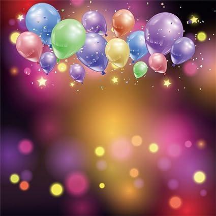 Amazoncom Lfeey 6x6ft Colorful Balloons Photo Backdrop Kids