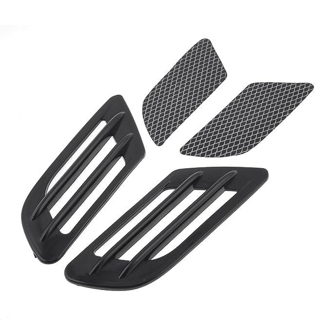 Sourcingmap Forma Rejilla Negro Placa Decorativa de Guardabarros Cap/ó para Coche