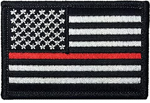 Tactical USA Flag Firefighter Fire & Rescue EMT EMS Iron Sewing on Patch - 2