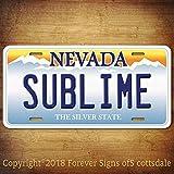 Sublime Punk Rock Band Nevada Vanity Aluminum License Plate Tag