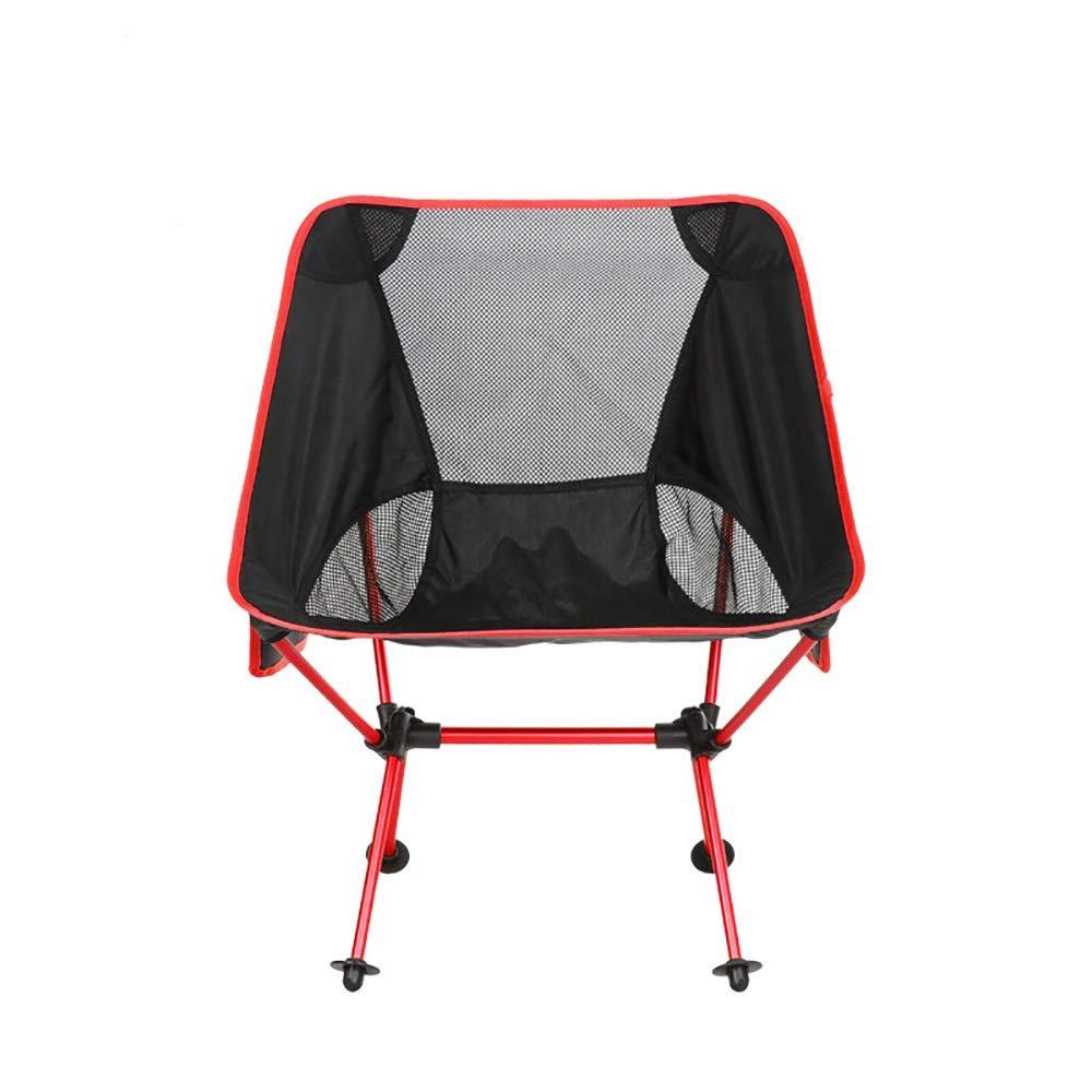 rouge C  BLLNDA Chaises de Camping Chaises Ultra-légères Chaise de Loisirs Chaise de Camping Pliante pour la pêche en Pique-Nique sur la Plage.