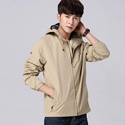 f2c10ef2 Amazon.com: NIAN Sports Jacket Men Spring and Autumn Men's Thin Jacket  Casual Hooded Outdoor (Color : Brown, Size : XXL): Sports & Outdoors