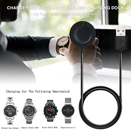 Hedear - Cargador de Reloj inalámbrico para Fossil Smart Watch ...