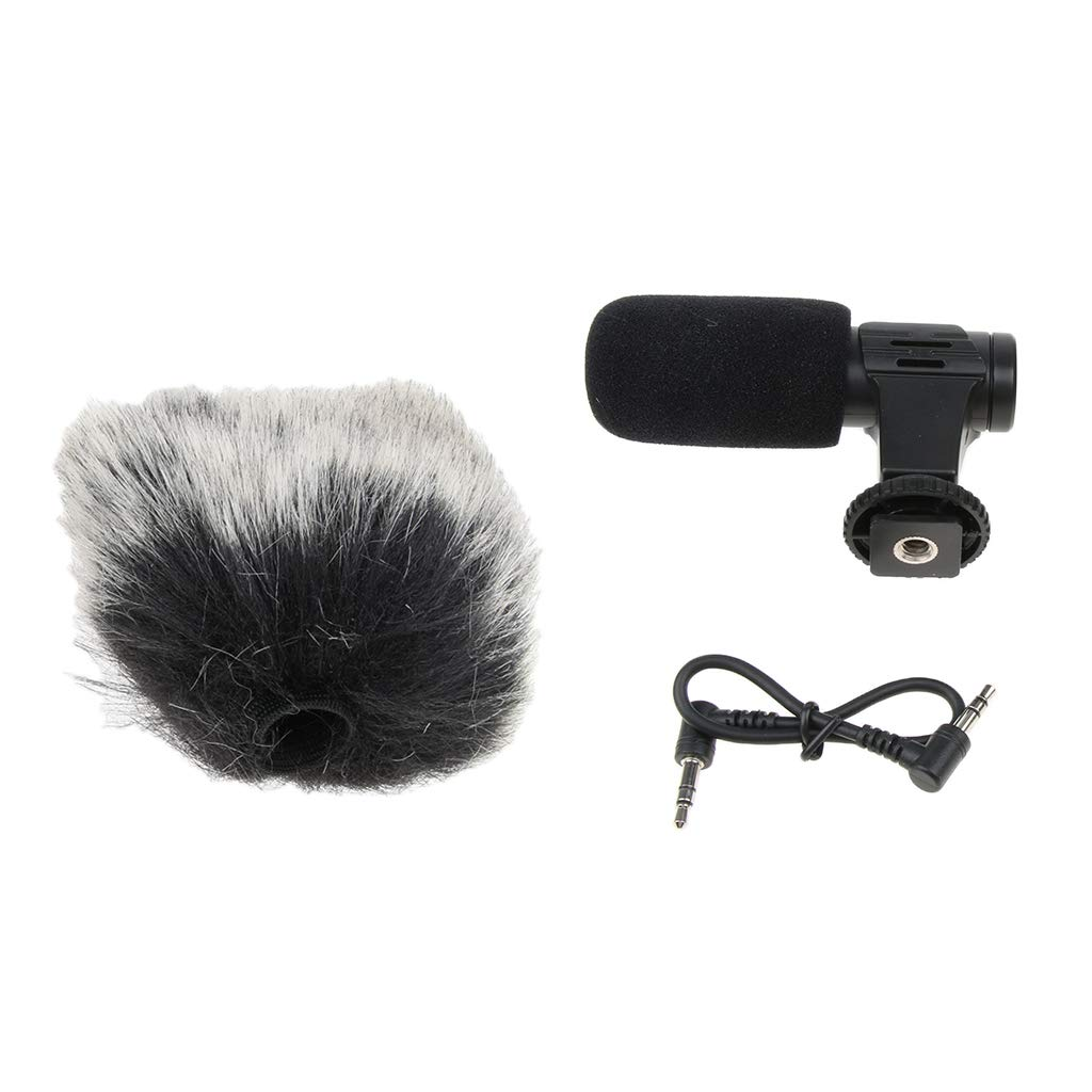 MagiDeal Camera Microphone, Mic-06 3.5mm Digital Video Recording Microphone for D-SLR Camera, DV Camera, Mobile Phone and Computer, Black