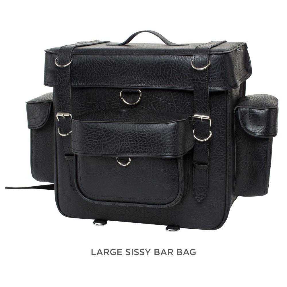 CUSTOM BILT Extra Large Sissybar Bag - XL, Black