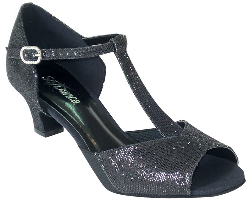 So Danca Ballroom Shoes Open Toe Ballroom Shoes with 1.5'' Heel