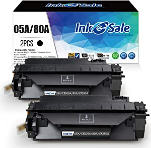 INK E-SALE Compatible 80A 05A Toner Cartridge Replacement for HP CF280A CE505A for HP LaserJet Pro 400 M401d M401dn M401n M401dw M425dn M425n M425d M425w M425dw P2055 P2055d P2055dn P2035 P2035n 2Pack