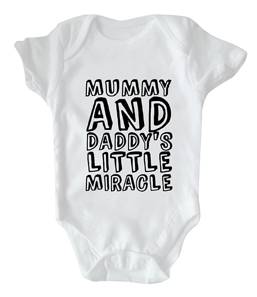 RPS White Slogan Baby Vest: Mummy And Daddy's Little Miracle