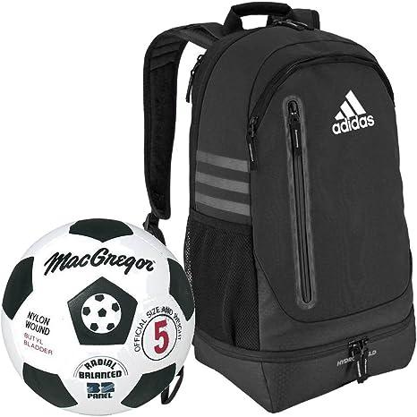 MacGregor – negro/blanco de goma balón de fútbol paquete de con un ...