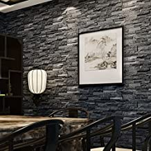 GXX [Chinese style]3D simulation of rock culture stone wallpaper/Vintage stone stones tiles pattern wallpaper/ brick dining room wallpaper-A
